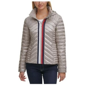 💖Tommy Hilfiger Quilted Zip Puffer Coat Jacket
